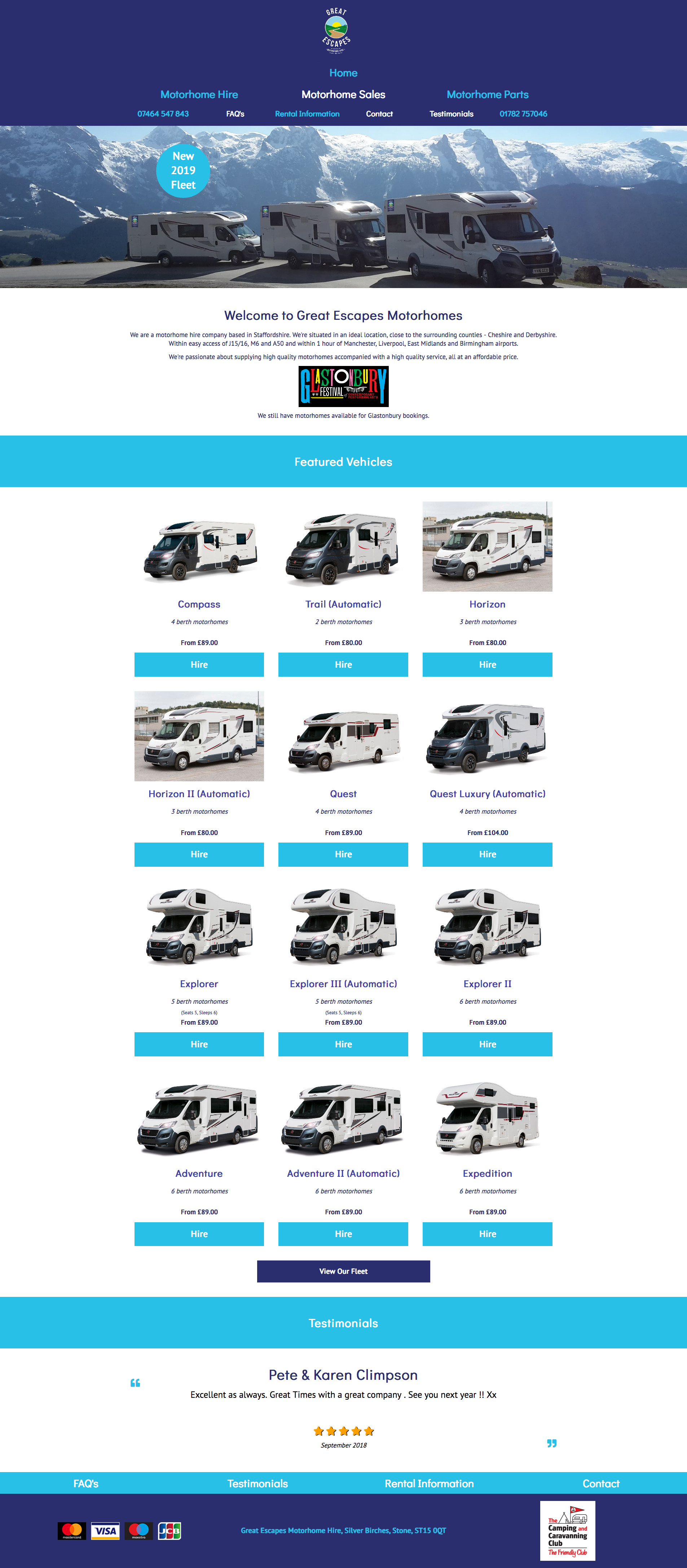 Great Escapes Motorhome Hire